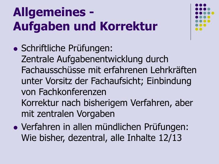 Allgemeines -