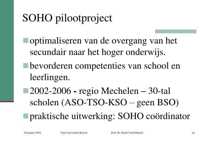 SOHO pilootproject