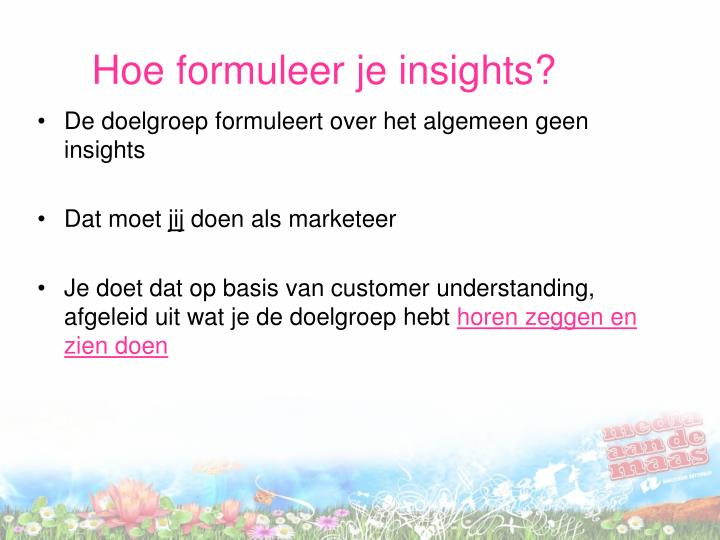 Hoe formuleer je insights?