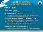 awips evolution what does it mean to you