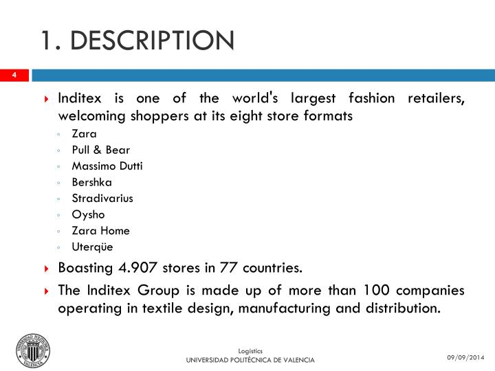 inditex analysis Industria de diseño textil, sa is a spanish multinational clothing company headquartered in arteixo (a coruña) in galicia inditex, the biggest fashion group in the world.