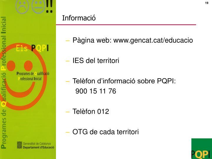 Informació