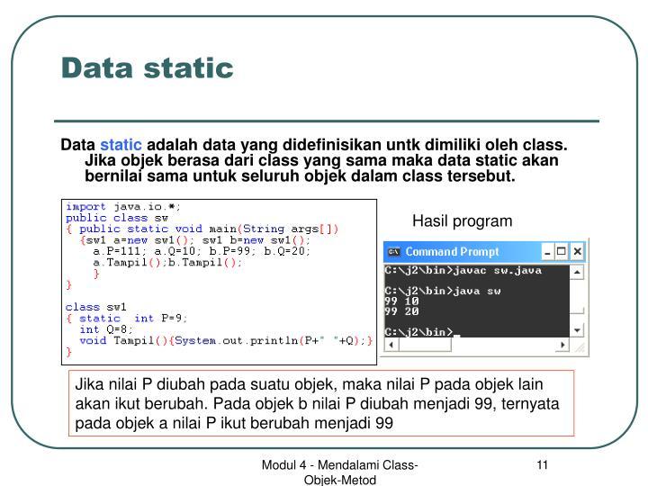 Data static