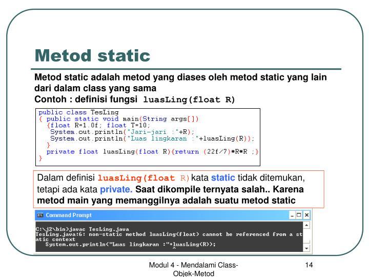 Metod static