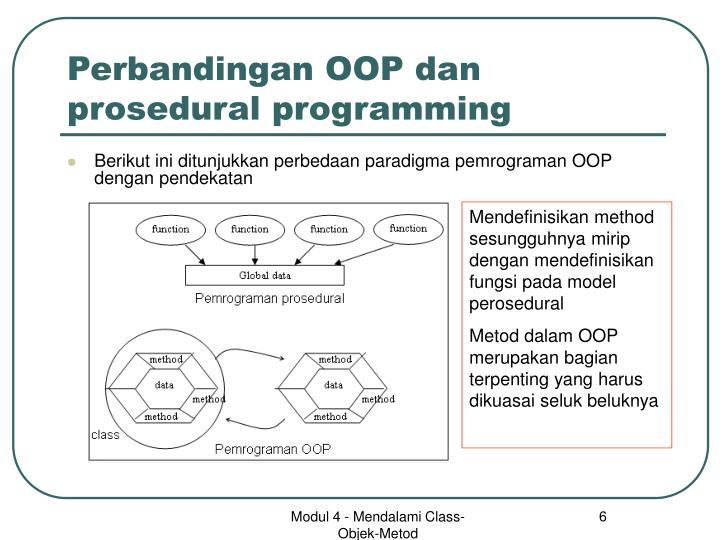Perbandingan OOP dan prosedural programming