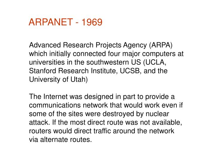 ARPANET - 1969