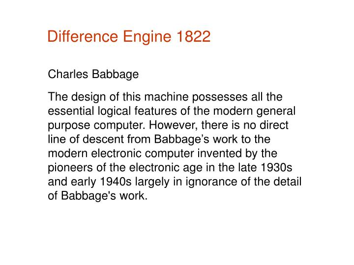 Difference Engine 1822