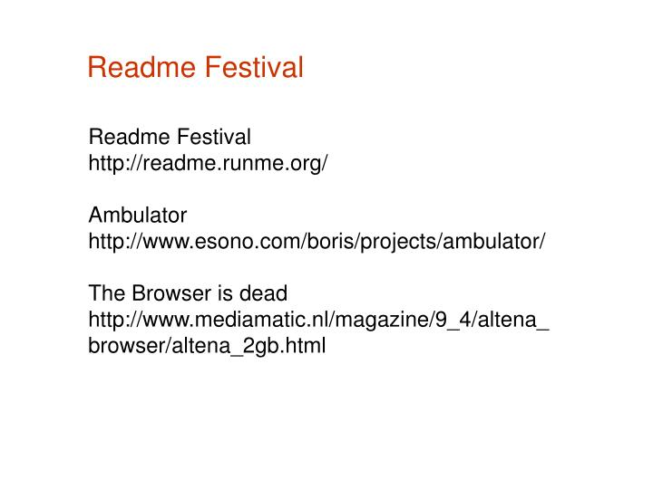 Readme Festival