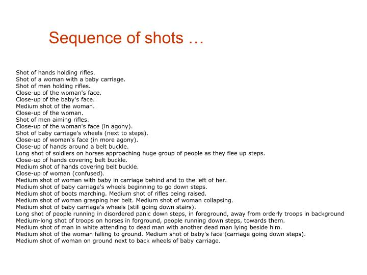 Sequence of shots …