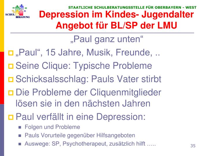 Depression im Kindes- Jugendalter