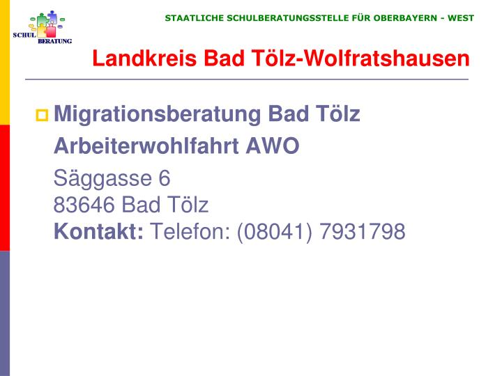 Migrationsberatung Bad Tölz