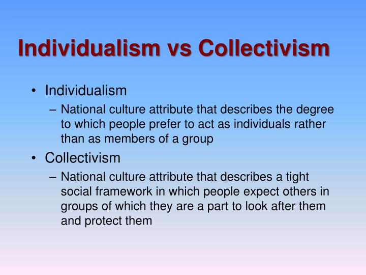 collectivism vs individualism 2 essay Individualism vs collectivism: our future, our choice ­ the  this essay is part of a  spring/individualism­collectivism.