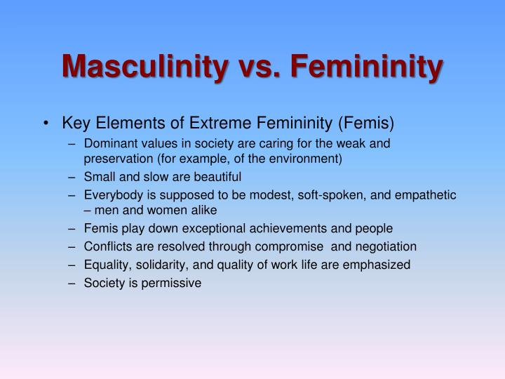 masculinity vs femininity in japan Masculinity and femininity in japanese society and media it is necessary here  to outline what  masculinity in manga vs masculinity in doujinshi the worlds.