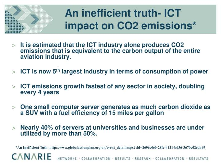 An inefficient truth ict impact on co2 emissions