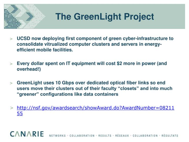The GreenLight Project