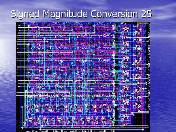 Signed Magnitude Conversion 25