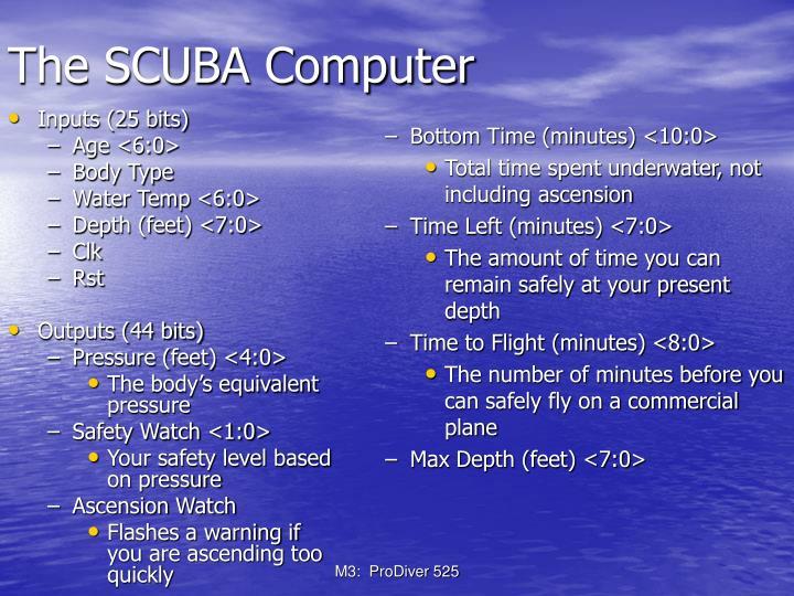 The scuba computer