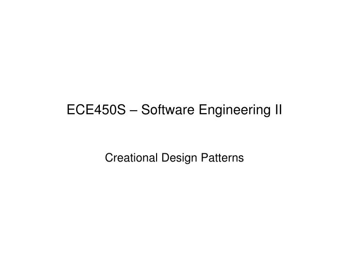 ece450s software engineering ii n.