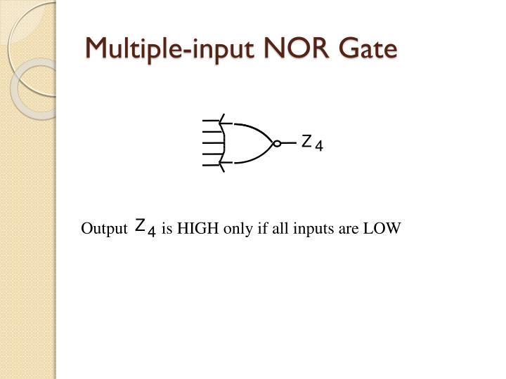 Multiple-input NOR Gate