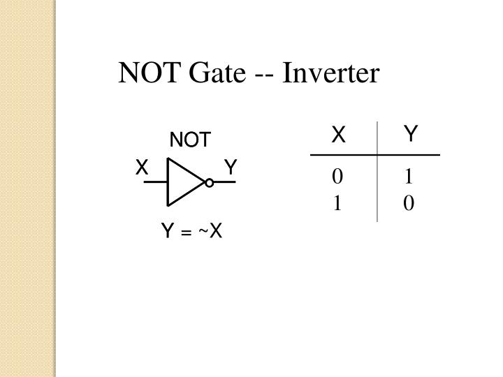 NOT Gate -- Inverter