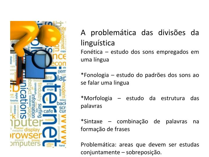 A problemática das divisões da linguística