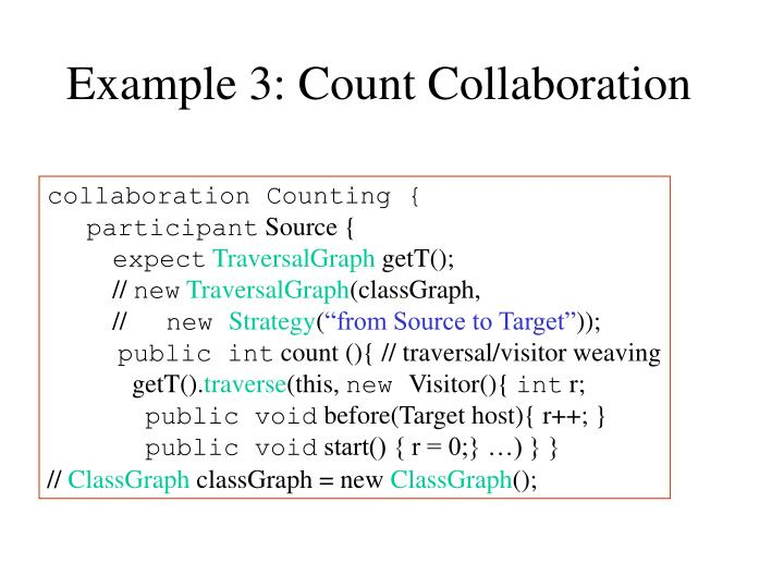 Example 3: Count Collaboration