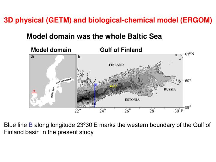 3D physical (GETM) and biological-chemical model