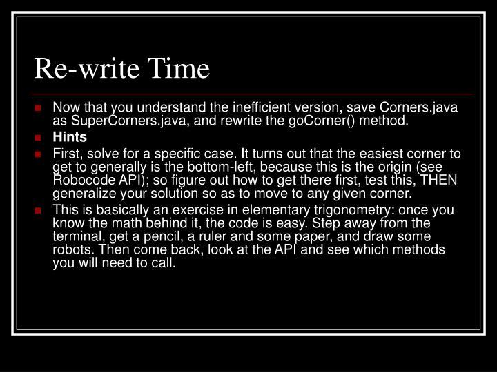 Re-write Time