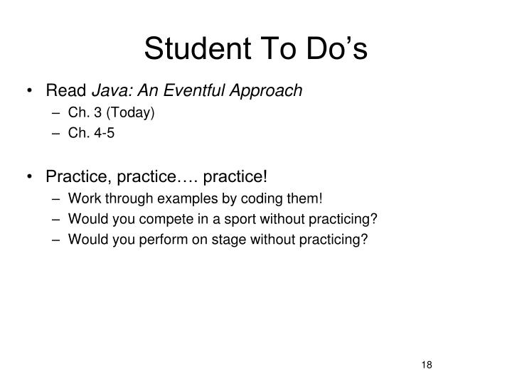 Student To Do's