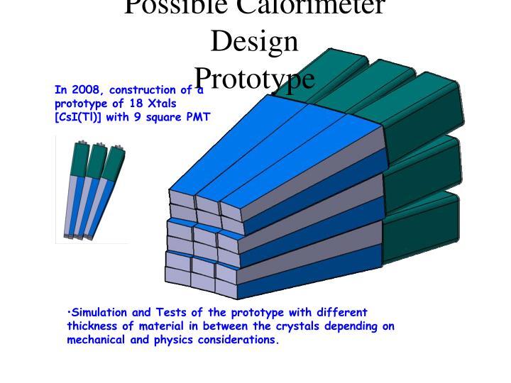 Possible Calorimeter Design