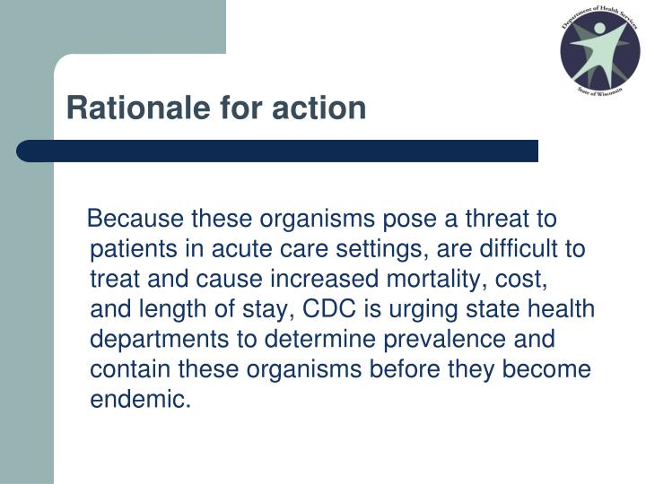Rationale for action