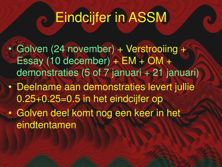 Eindcijfer in ASSM