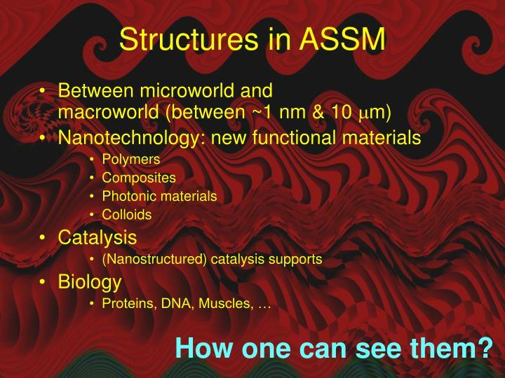 Structures in assm