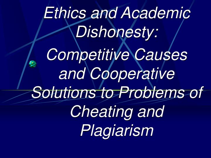 the issue of dishonesty in the cases of plagiarism Academic integrity case studies  read each of the following scenarios is this plagiarism/academic dishonesty are all three of them at fault.
