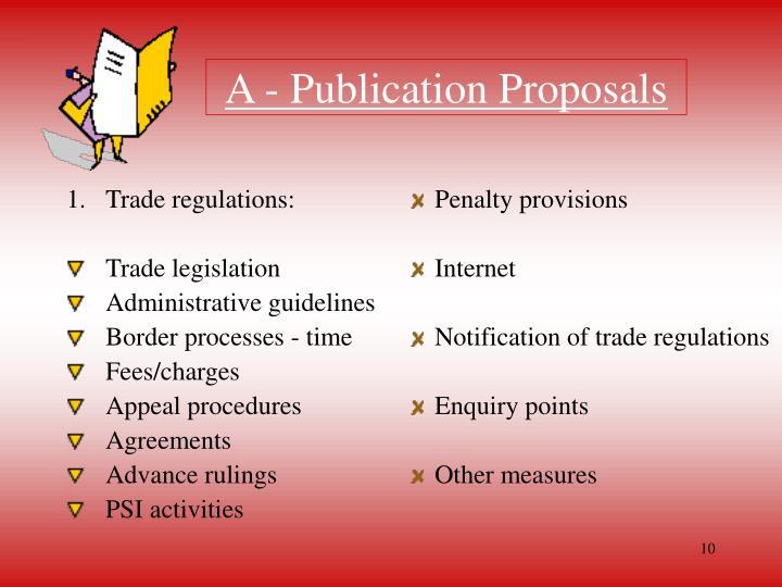 Trade regulations: