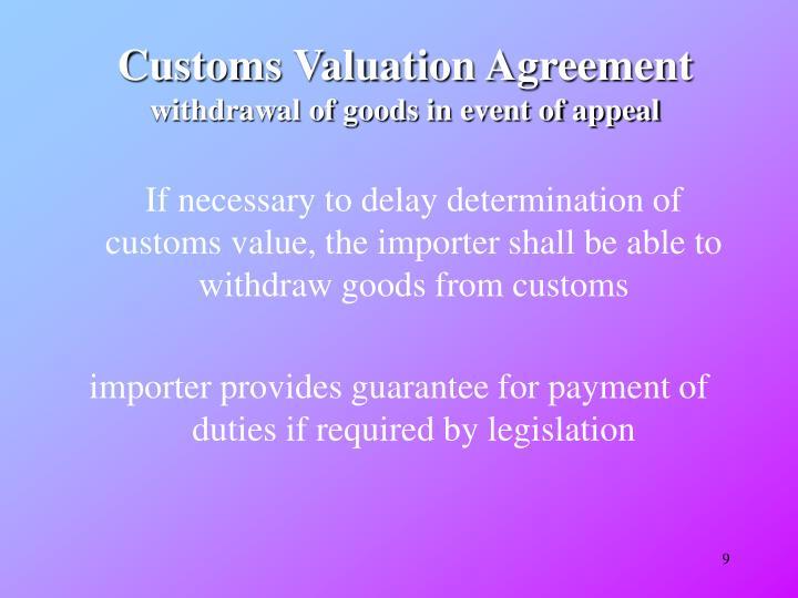 Customs Valuation Agreement