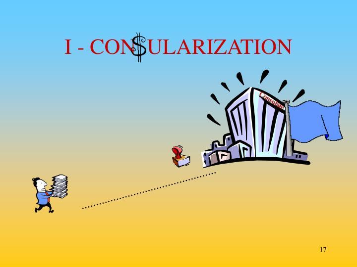 I - CON  ULARIZATION
