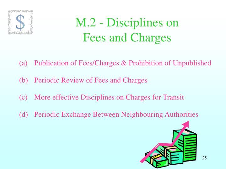 M.2 - Disciplines on
