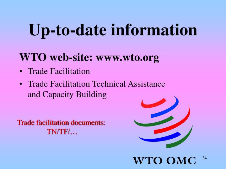 Up-to-date information