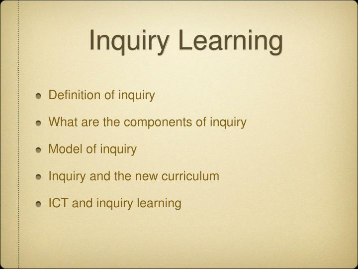 inquiry learning n.