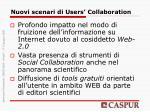 nuovi scenari di users collaboration