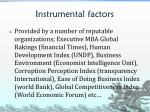 instrumental factors