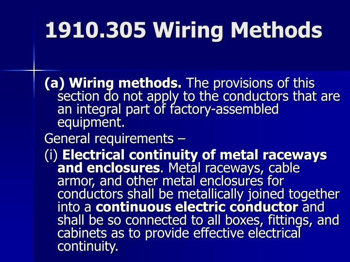 1910.305 Wiring Methods