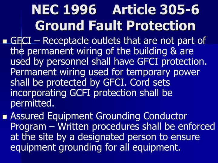 NEC 1996    Article 305-6