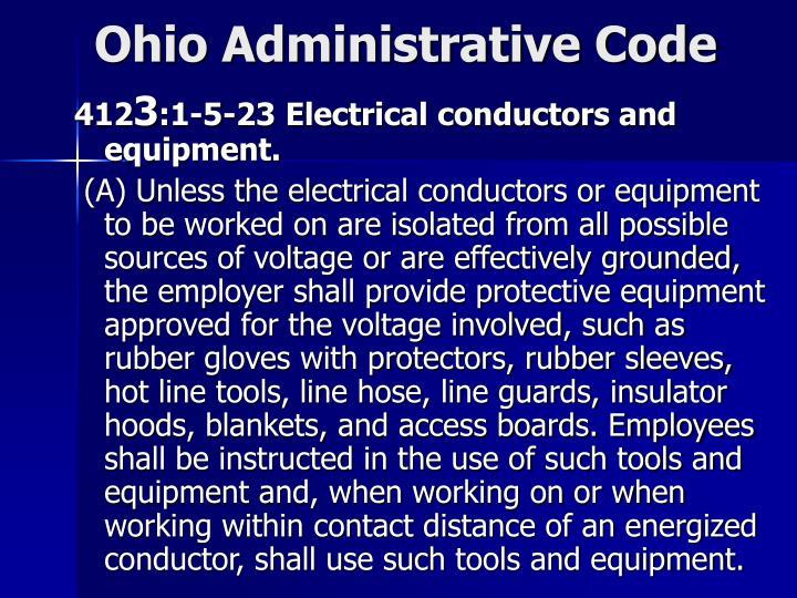 Ohio Administrative Code