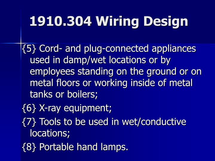1910.304 Wiring Design