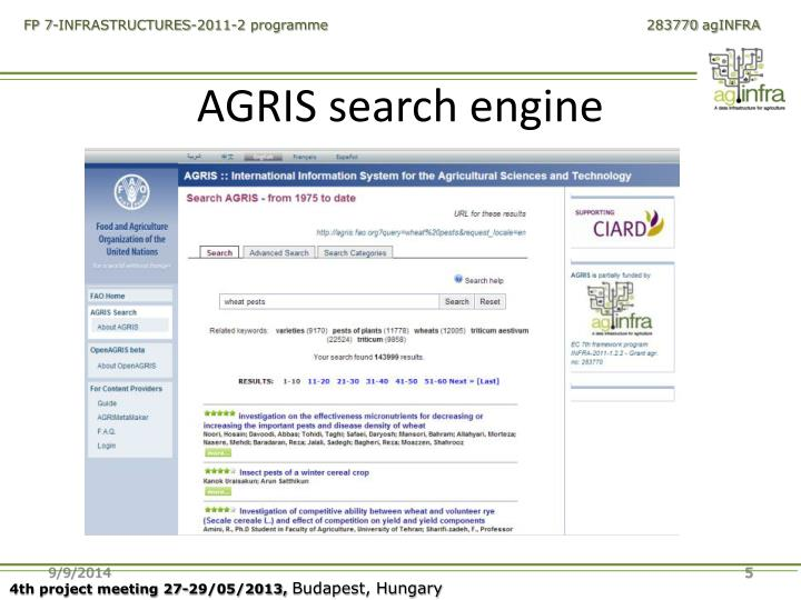 AGRIS search engine