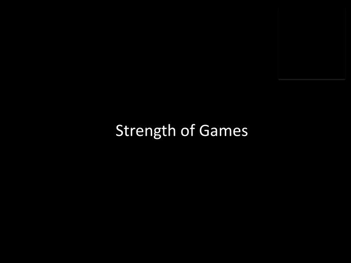 Strength of Games