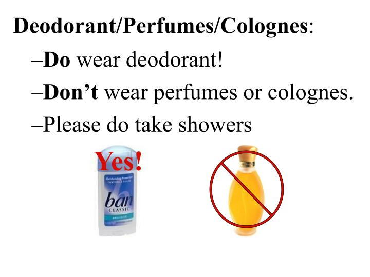 Deodorant/Perfumes/Colognes