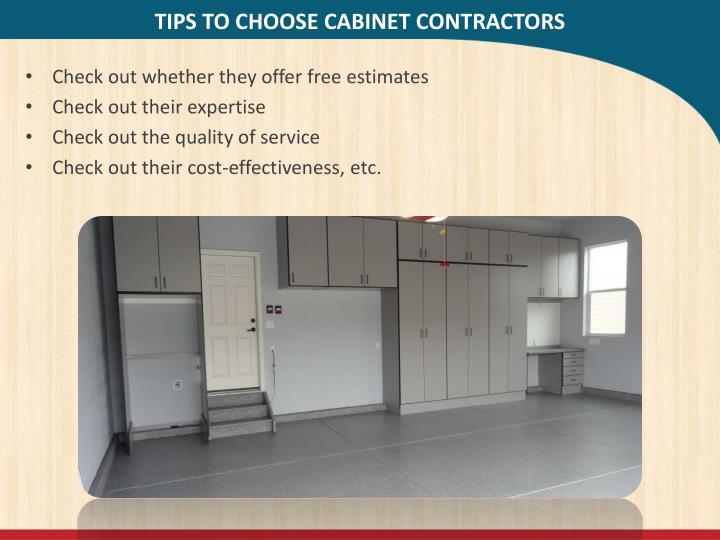 TIPS TO CHOOSE CABINET CONTRACTORS